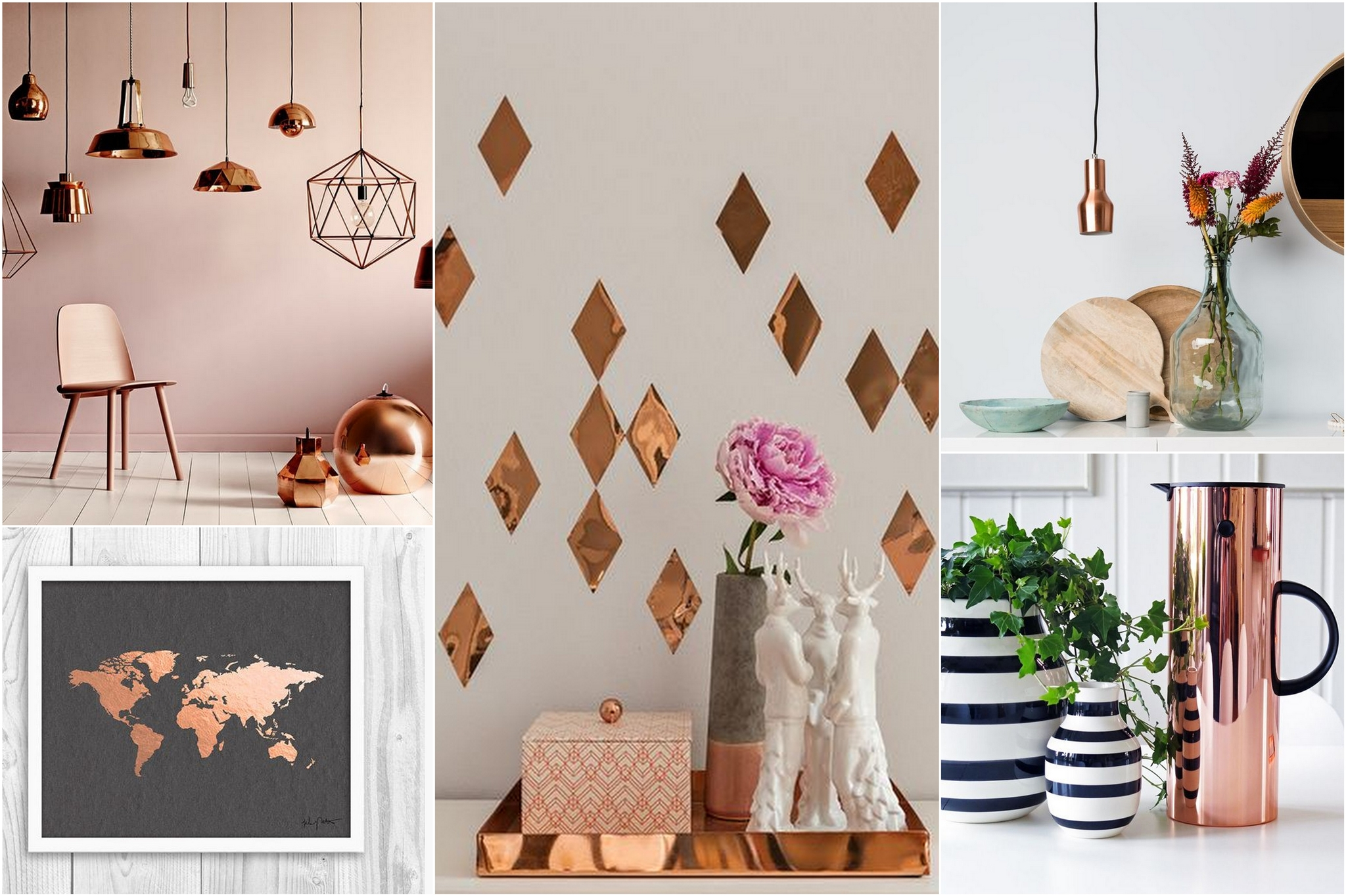 Lifestyle: interior inspiration   vintage, copper, colors, clean, geo