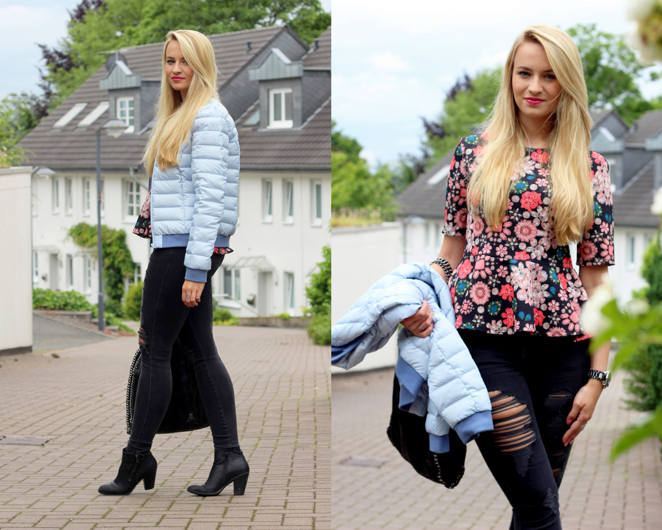lightweight-jacket-peplum-shirt-flowers-skinny-jeans-ripped-destroyed-jeans (1)