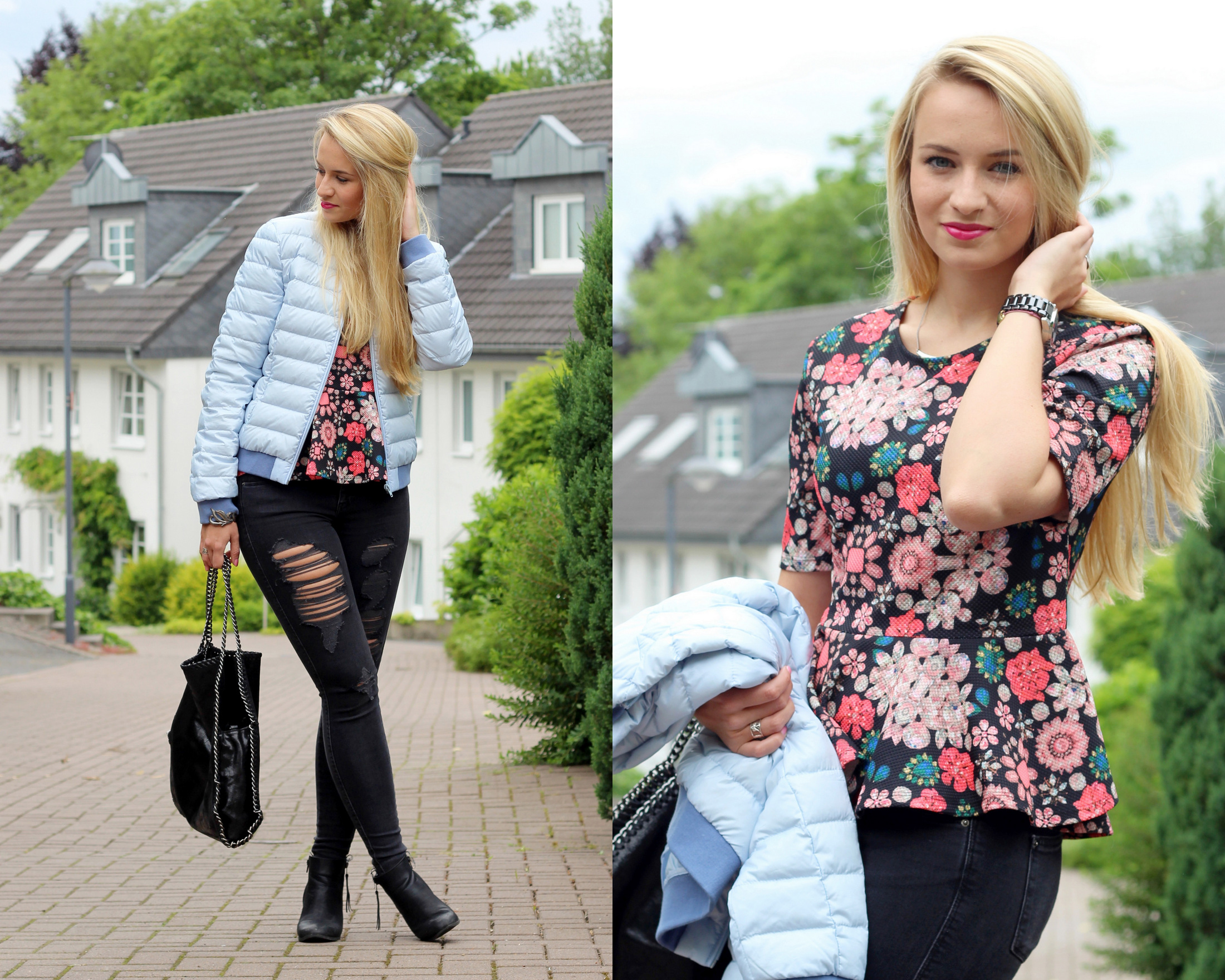 lightweight-jacket-peplum-shirt-flowers-skinny-jeans-ripped-destroyed-jeans (4)
