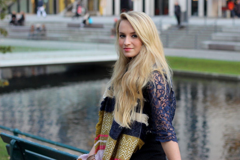 outfit navy blue lace shirt favorite zara scarf mrs brightside fashion travel. Black Bedroom Furniture Sets. Home Design Ideas